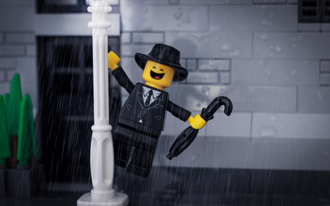 LEGO Man in the rain
