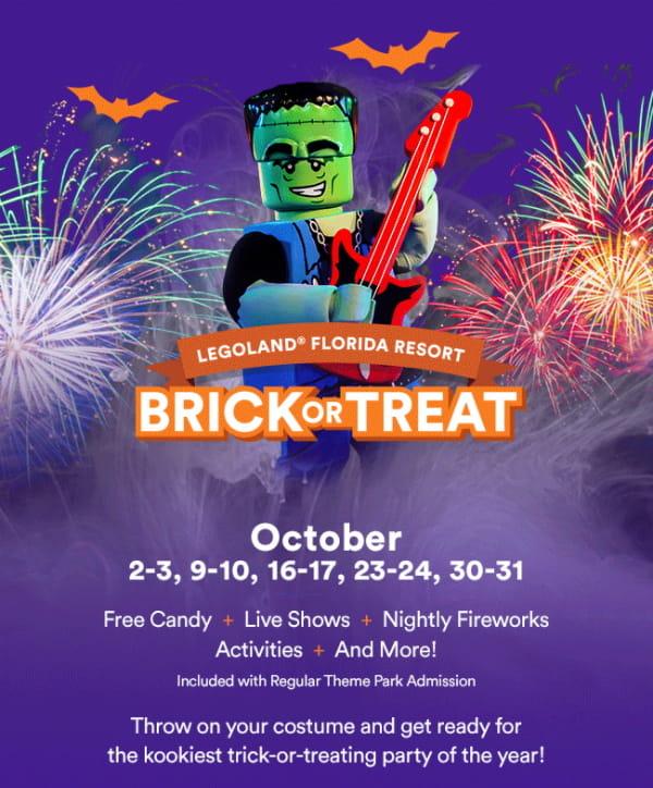 LEGOLAND Brick or Treat Halloween Event