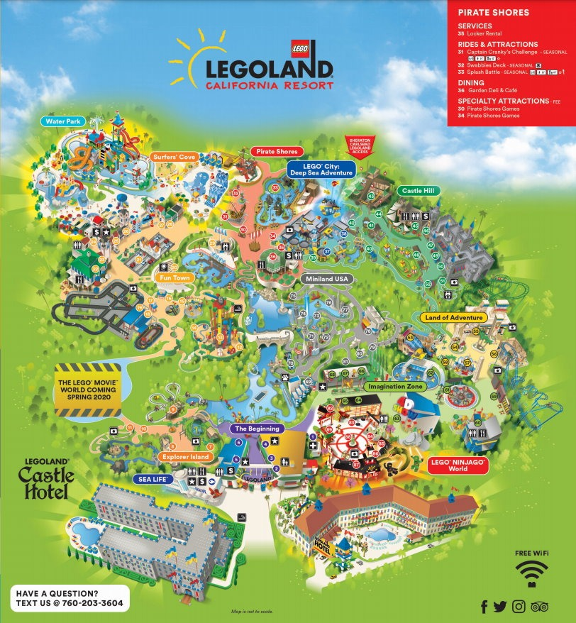 LEGOLAND California Park Map