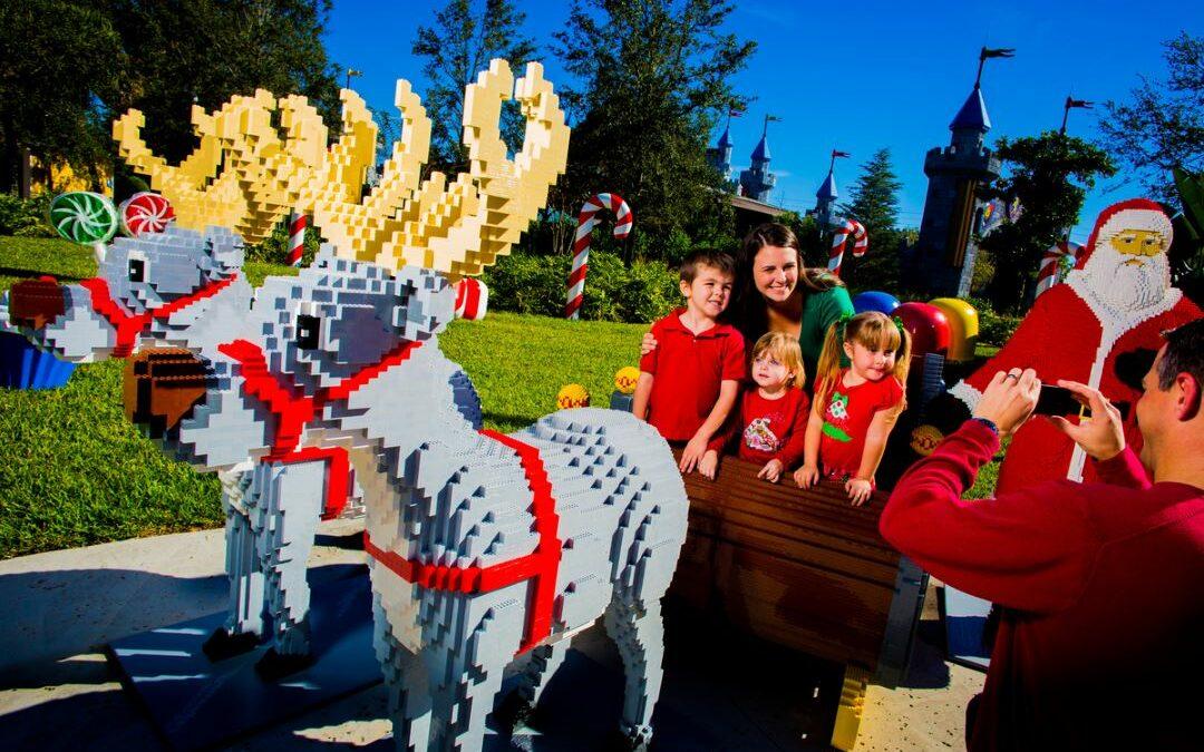 LEGOLAND Florida Resort Christmas Bricktacular Celebration with Holiday Fireworks
