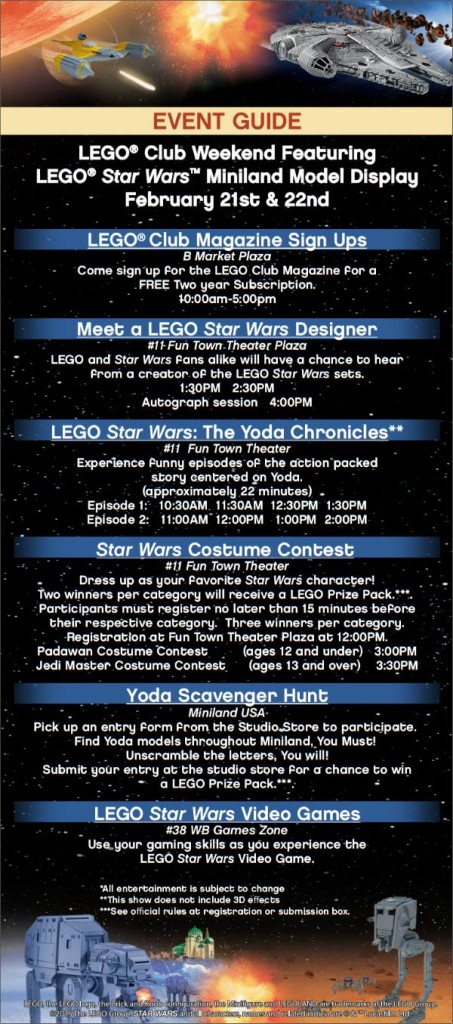 LEGOLAND Florida Star Wars Event Schedule
