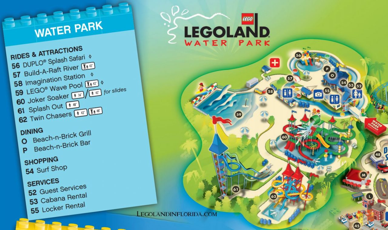 LEGOLAND Florida Water Park Map
