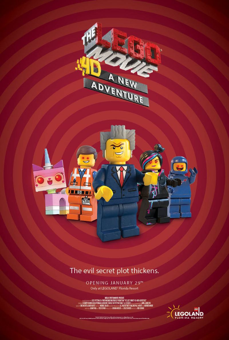 The Lego Movie 4d A New Adventure Opens Jan 29 Legoland In Florida